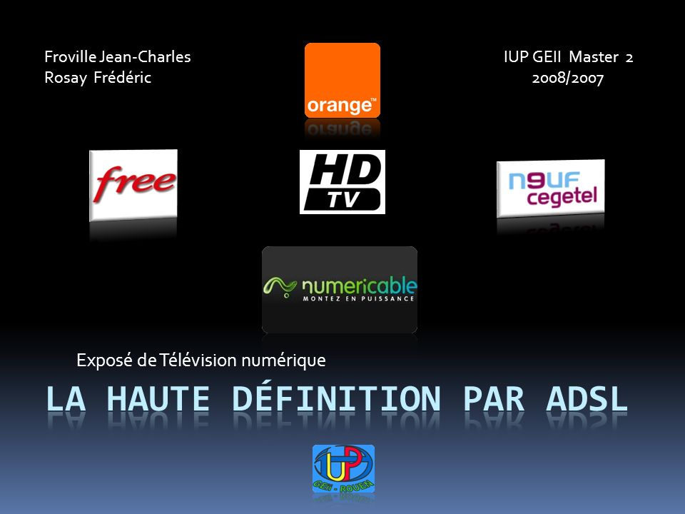 La haute définition par aDSl - ppt télécharger