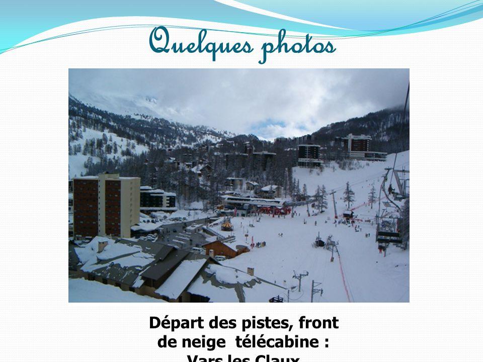 Départ des pistes, front de neige télécabine : Vars les Claux