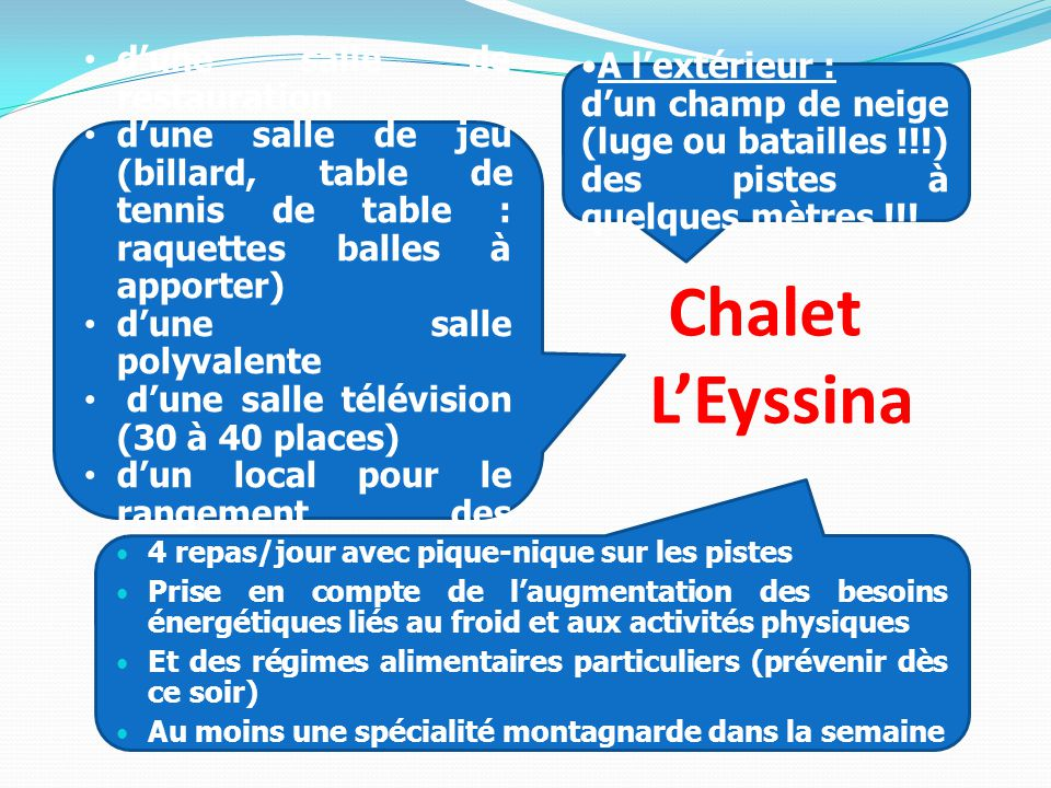 Chalet L'Eyssina A l'extérieur :