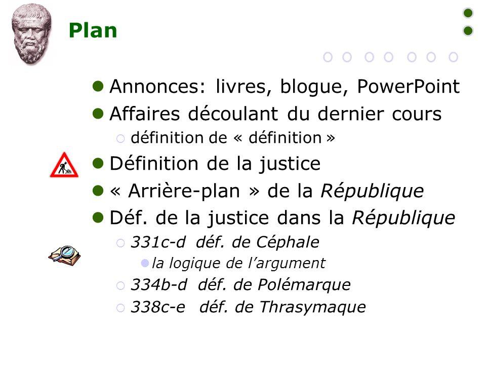 Plan Annonces: livres, blogue, PowerPoint