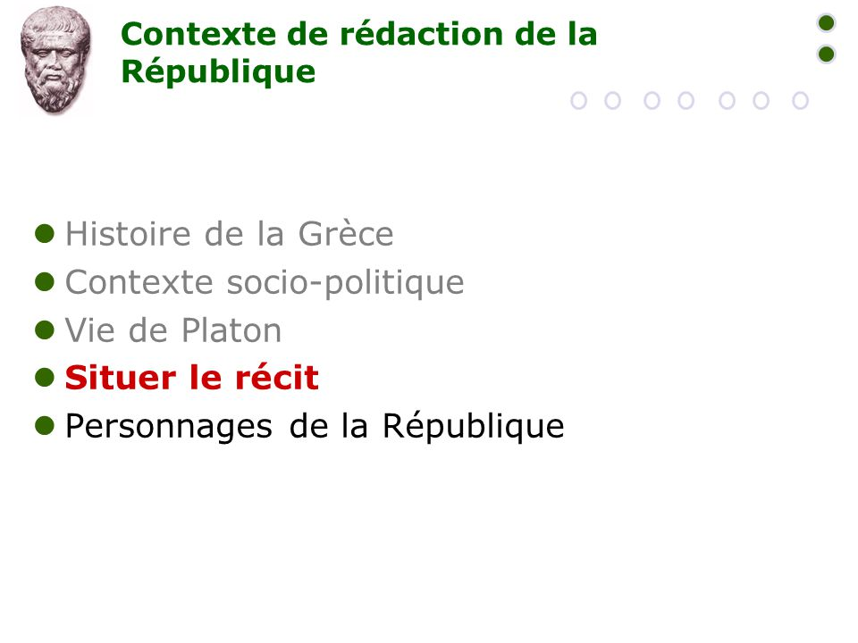 Contexte de rédaction de la République