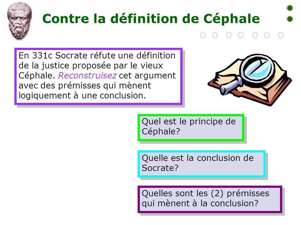 Contre la définition de Céphale