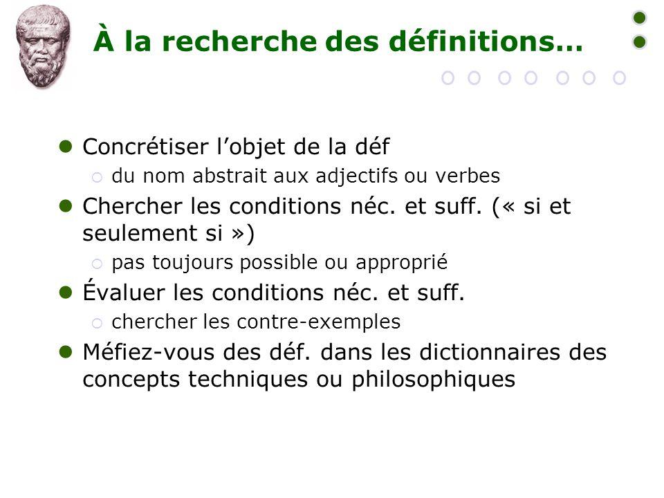 À la recherche des définitions…
