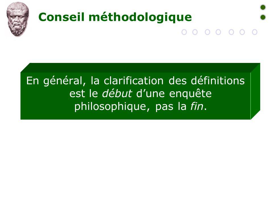 Conseil méthodologique
