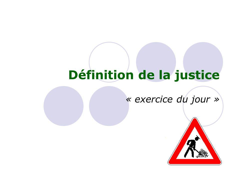 Définition de la justice