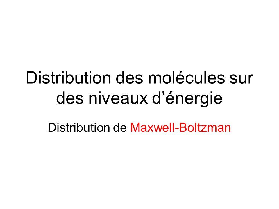 Distribution des molécules sur des niveaux d'énergie