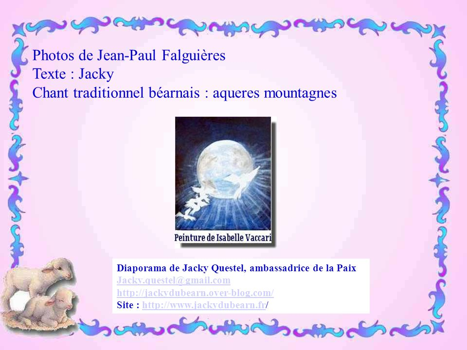 Photos de Jean-Paul Falguières Texte : Jacky