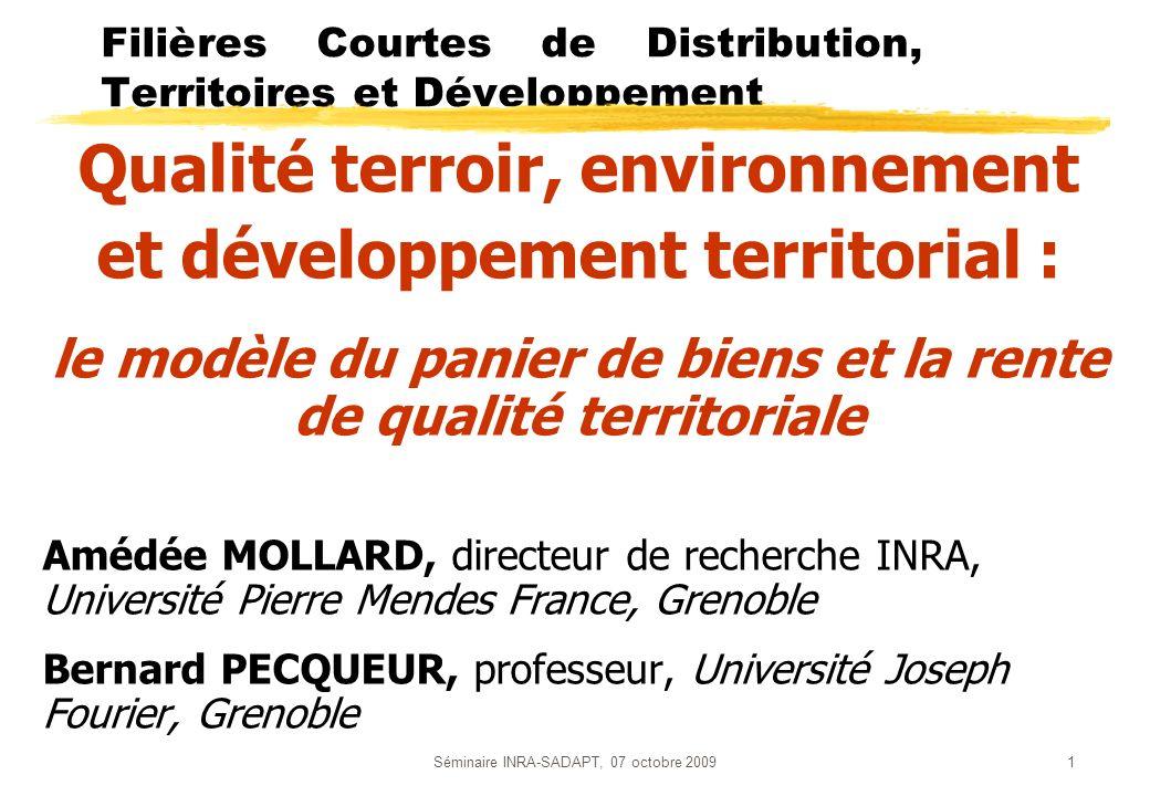 Filières Courtes de Distribution, Territoires et Développement