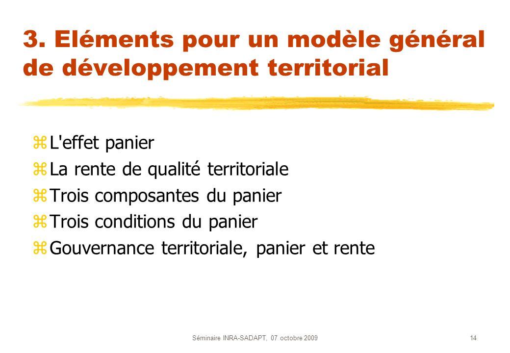 3. Eléments pour un modèle général de développement territorial