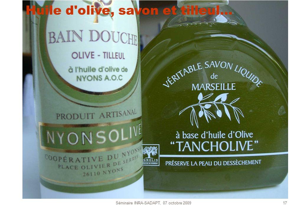 Huile d olive, savon et tilleul…