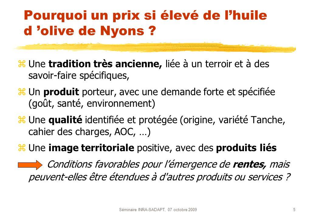 Pourquoi un prix si élevé de l'huile d 'olive de Nyons