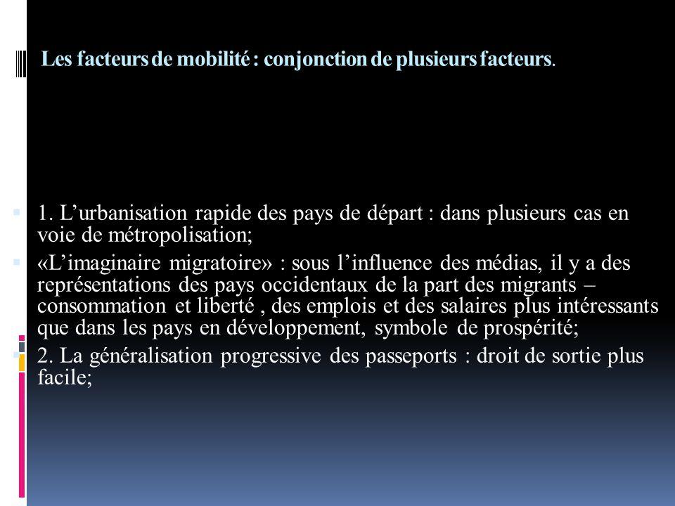 Les facteurs de mobilité : conjonction de plusieurs facteurs.