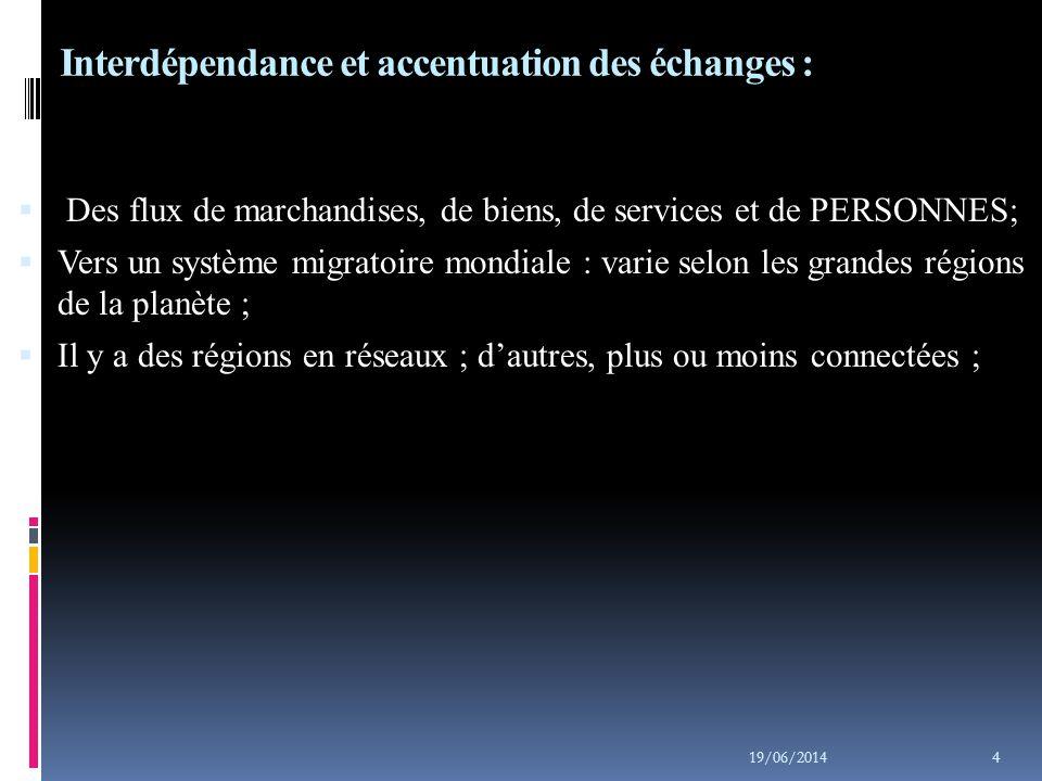 Interdépendance et accentuation des échanges :