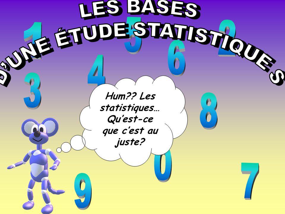 Hum Les statistiques… Qu'est-ce que c'est au juste