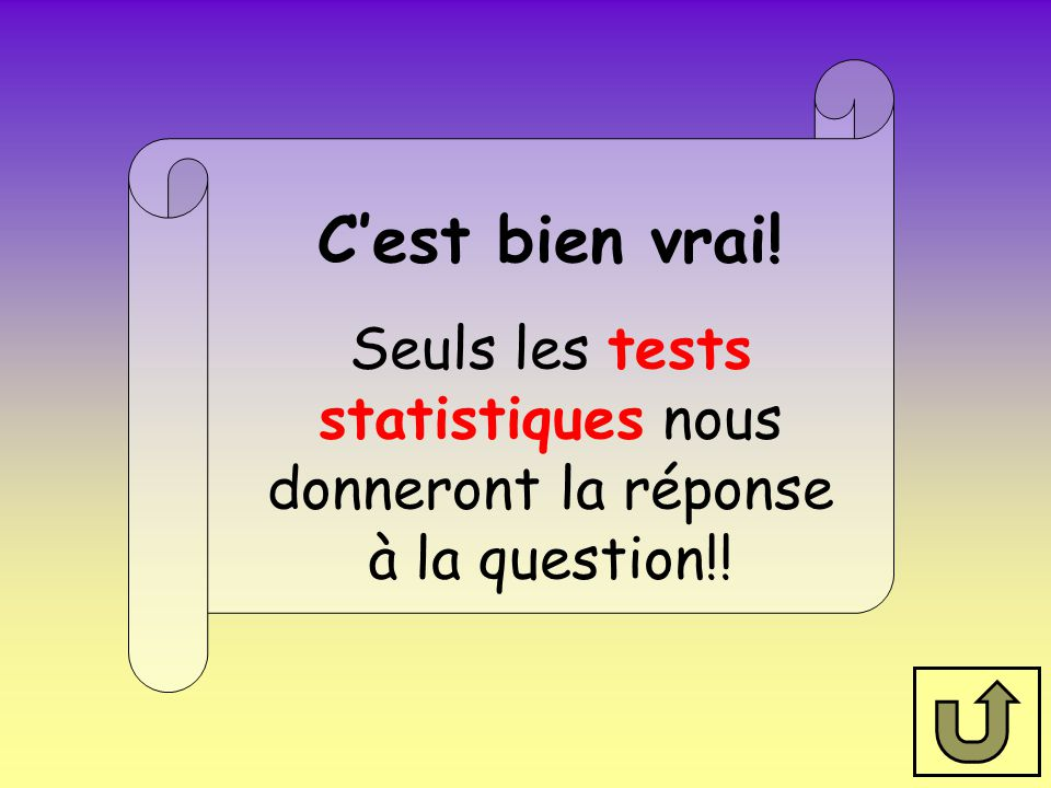 Seuls les tests statistiques nous donneront la réponse à la question!!