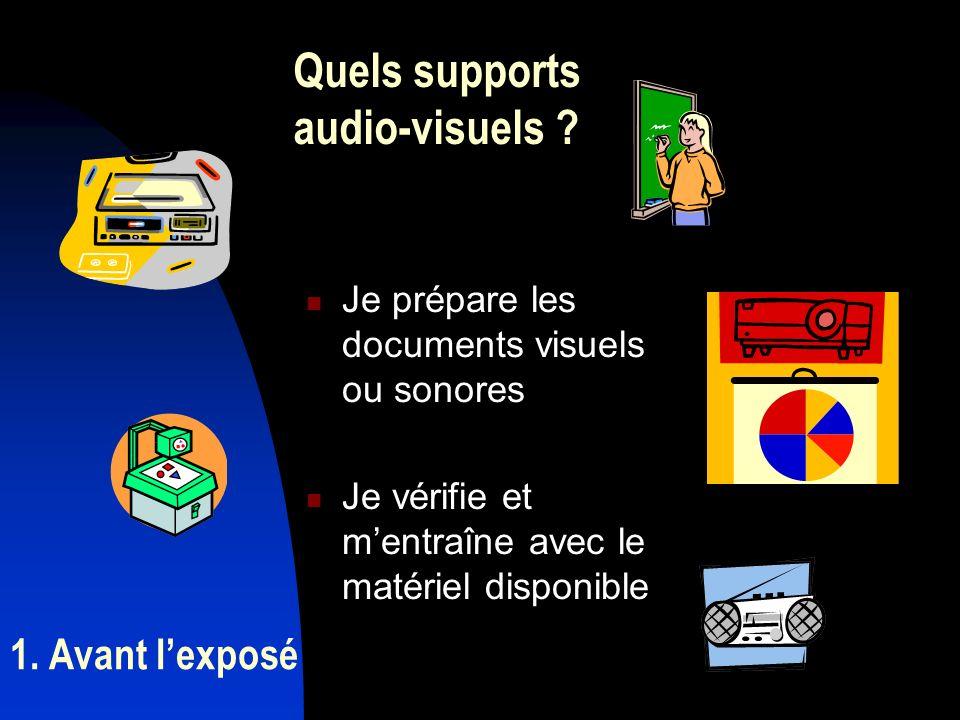 Quels supports audio-visuels
