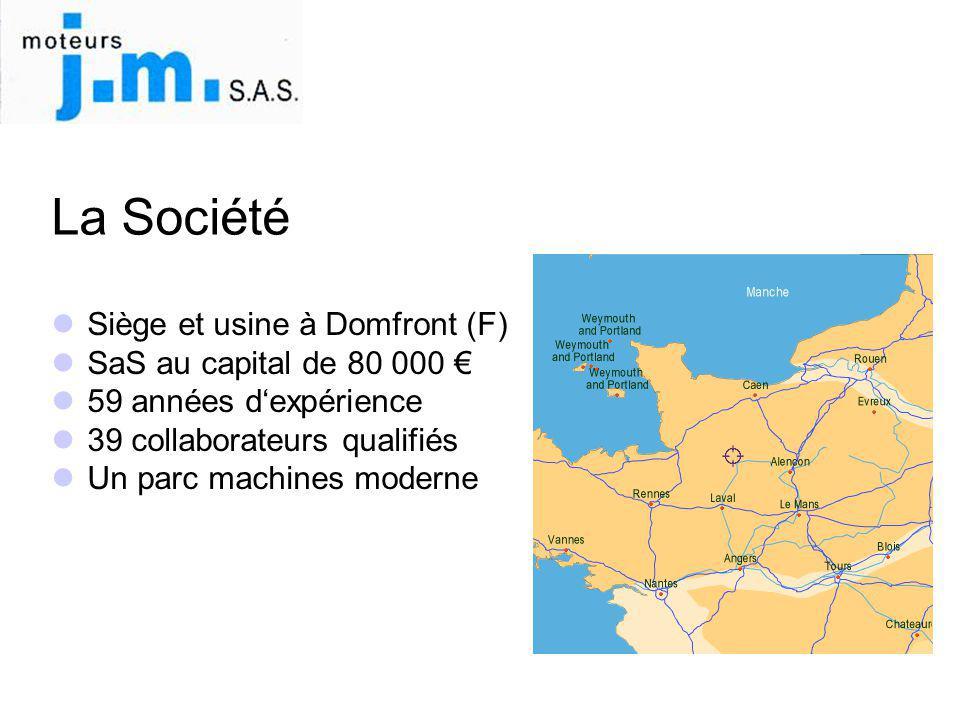 La Société Siège et usine à Domfront (F) SaS au capital de 80 000 €