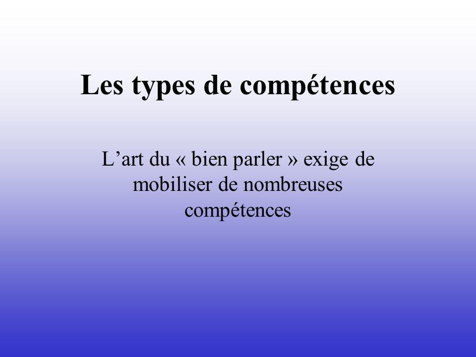 Les types de compétences