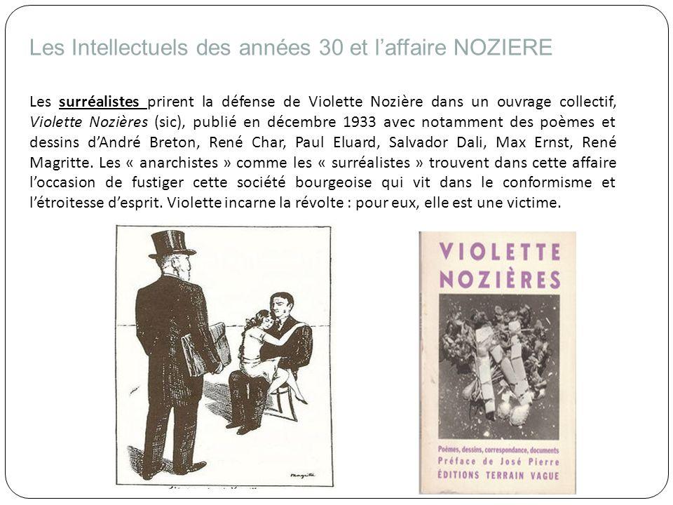 Les Intellectuels des années 30 et l'affaire NOZIERE