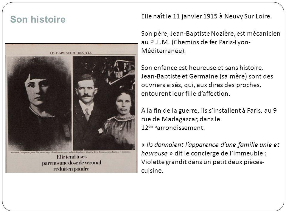 Son histoire Elle naît le 11 janvier 1915 à Neuvy Sur Loire.