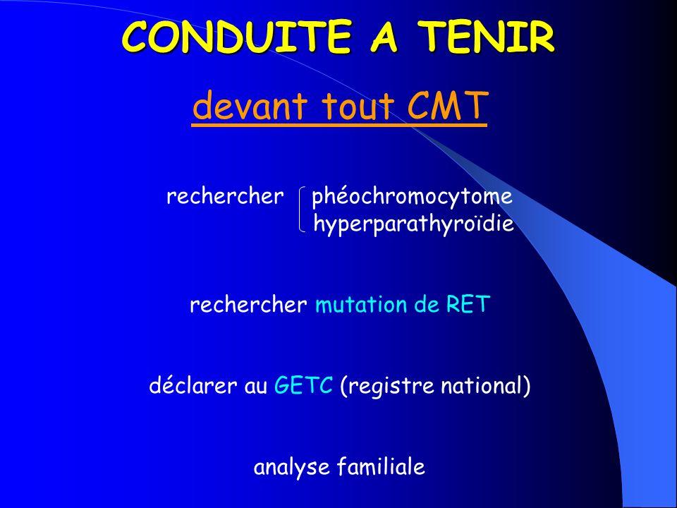 CONDUITE A TENIR devant tout CMT rechercher phéochromocytome