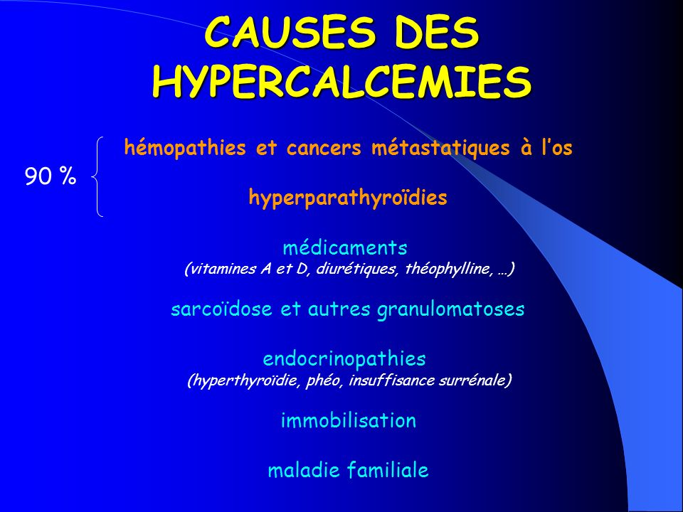 CAUSES DES HYPERCALCEMIES