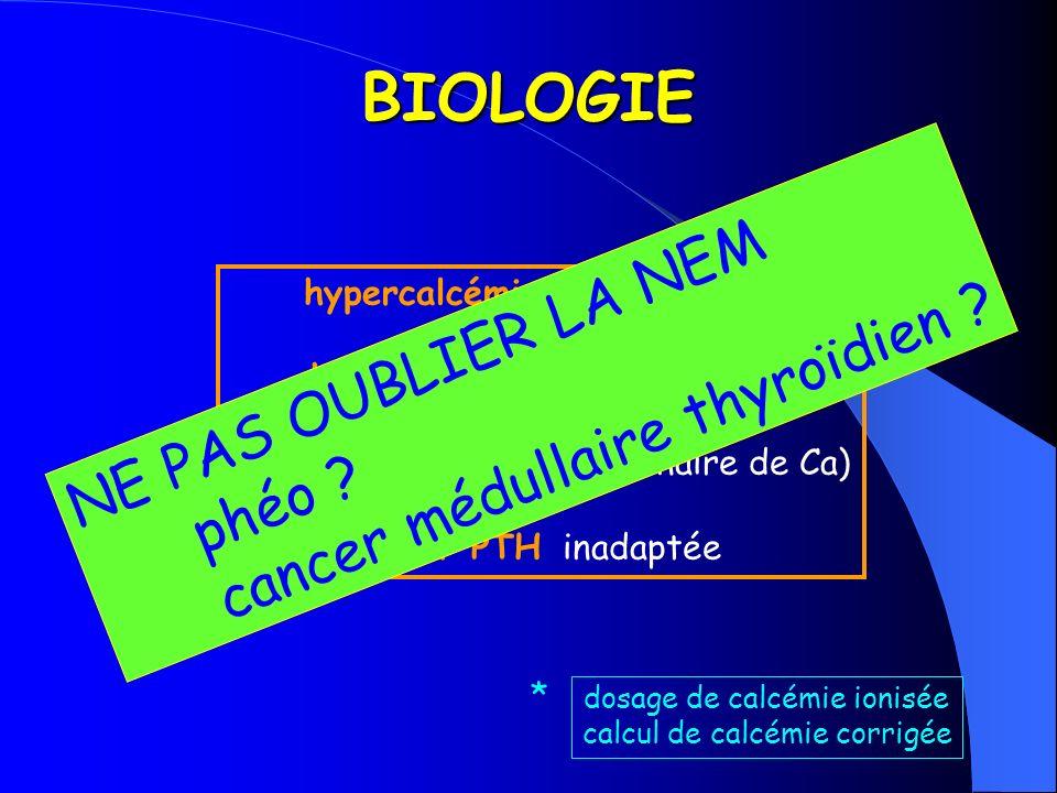 BIOLOGIE NE PAS OUBLIER LA NEM cancer médullaire thyroïdien phéo