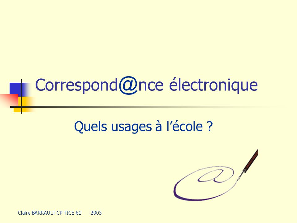 Correspond@nce électronique