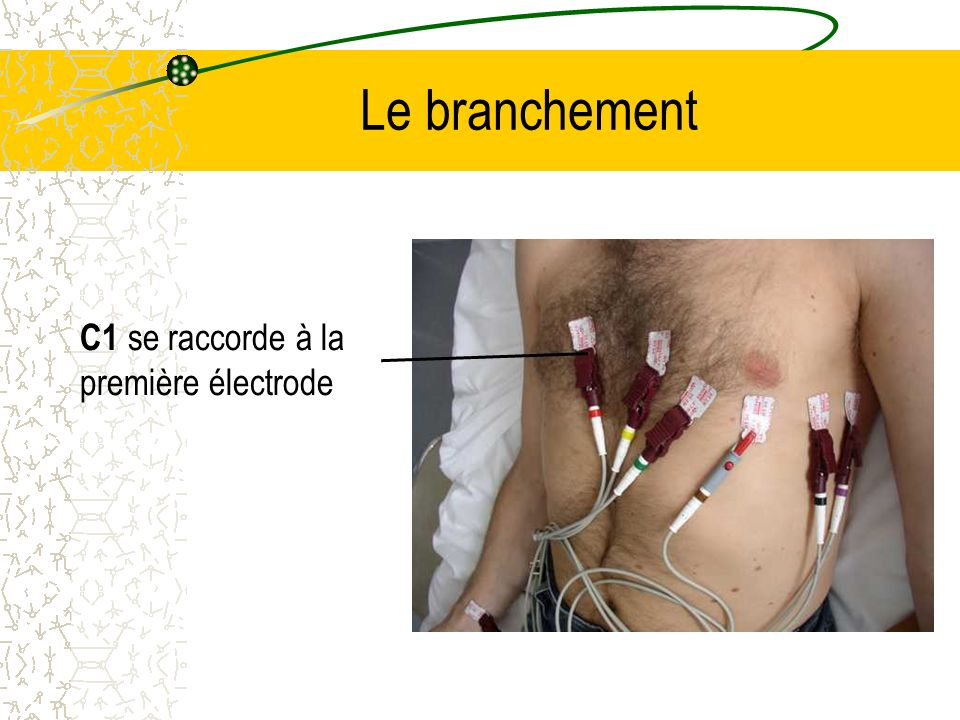 Le branchement C1 se raccorde à la première électrode