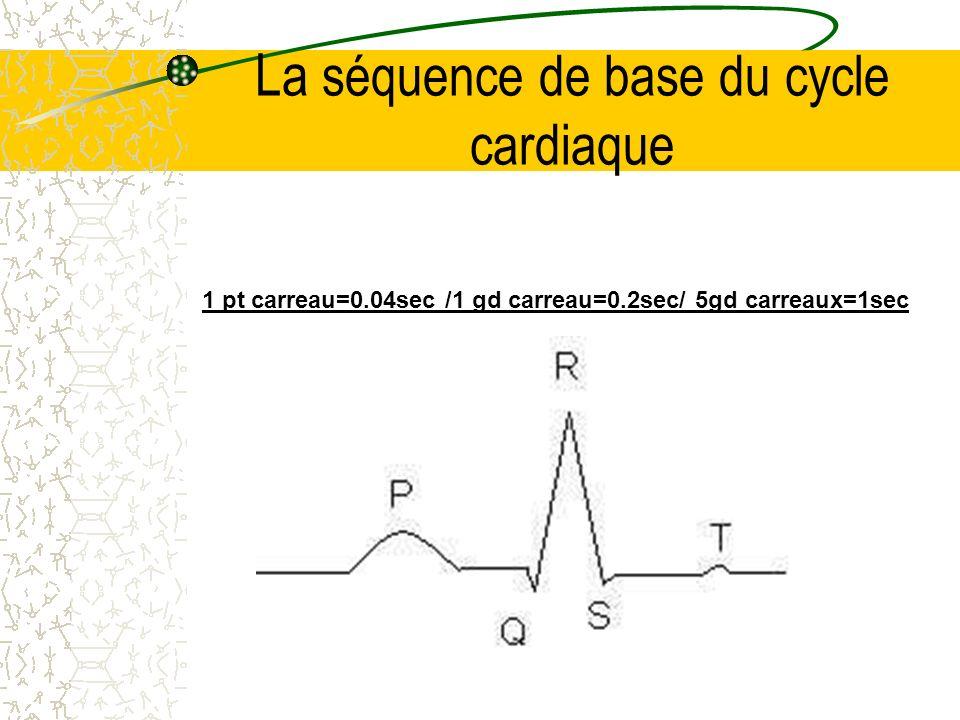 La séquence de base du cycle cardiaque