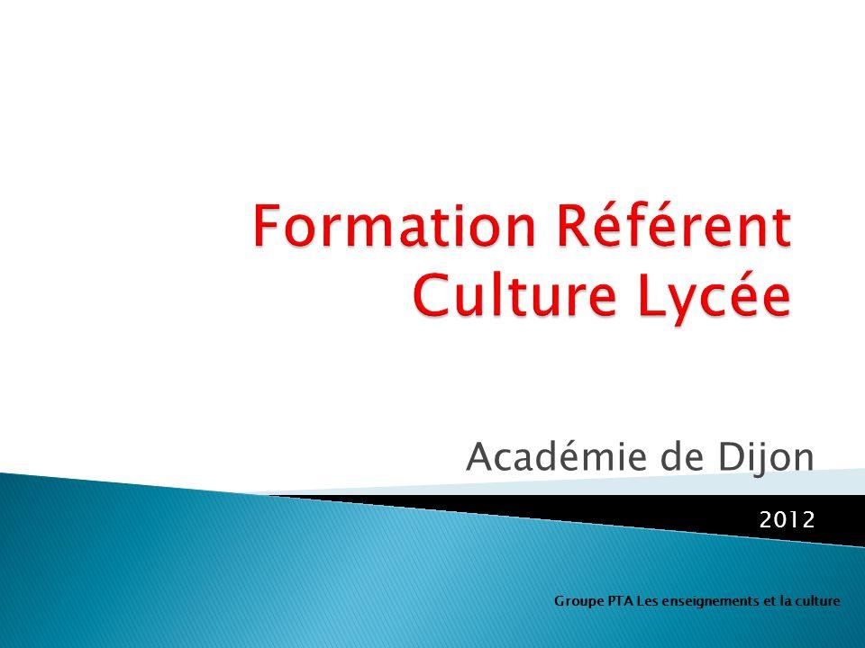 Formation Référent Culture Lycée