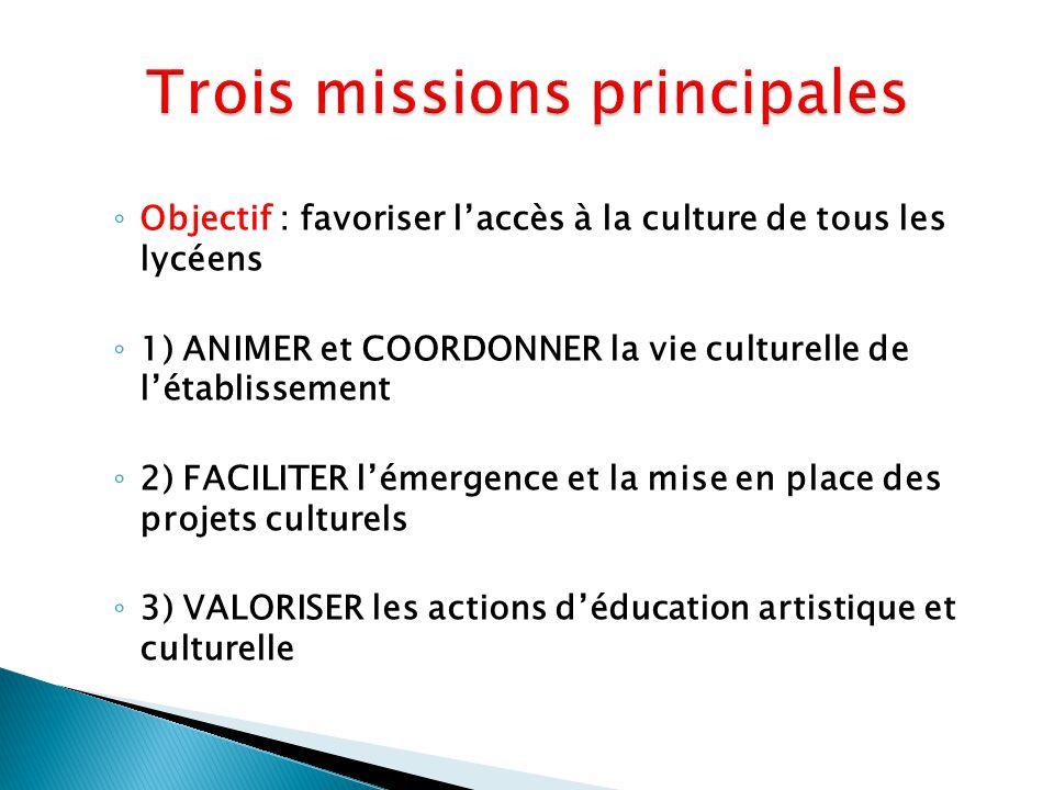 Trois missions principales