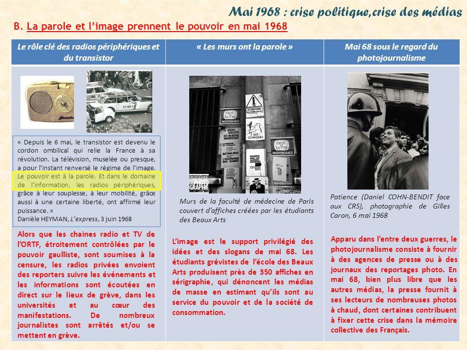 Mai 1968 : crise politique, crise des médias