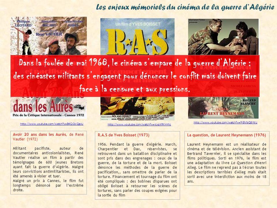 Les enjeux mémoriels du cinéma de la guerre d'Algérie