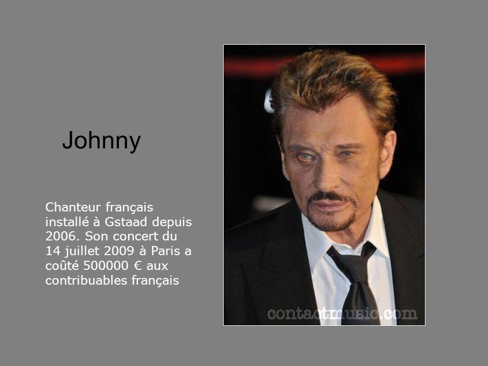 Johnny Chanteur français installé à Gstaad depuis 2006.