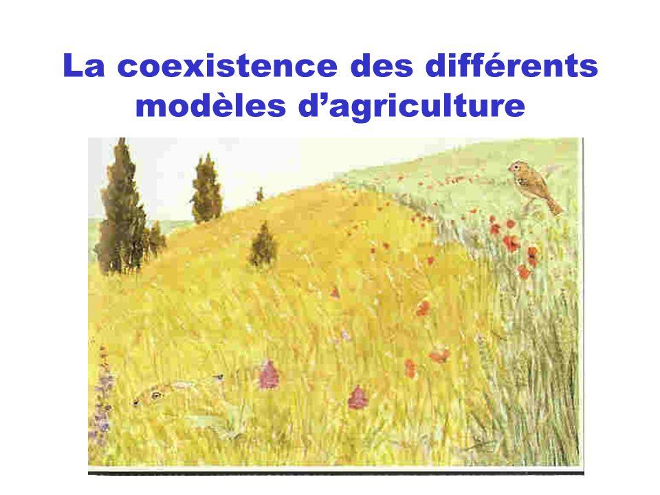 La coexistence des différents modèles d'agriculture