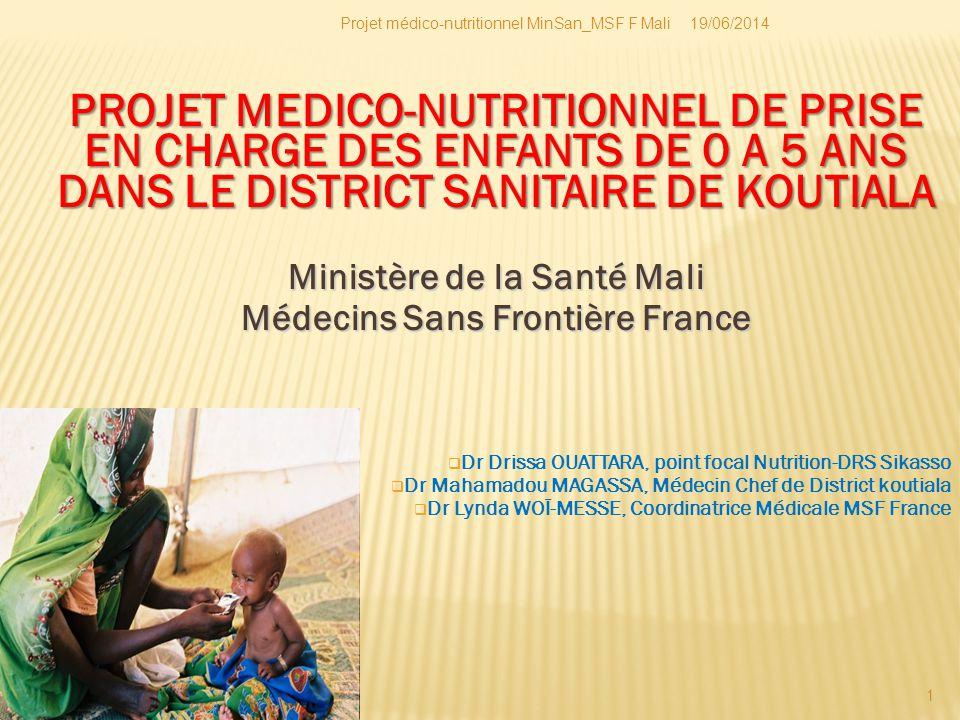 Ministère de la Santé Mali Médecins Sans Frontière France