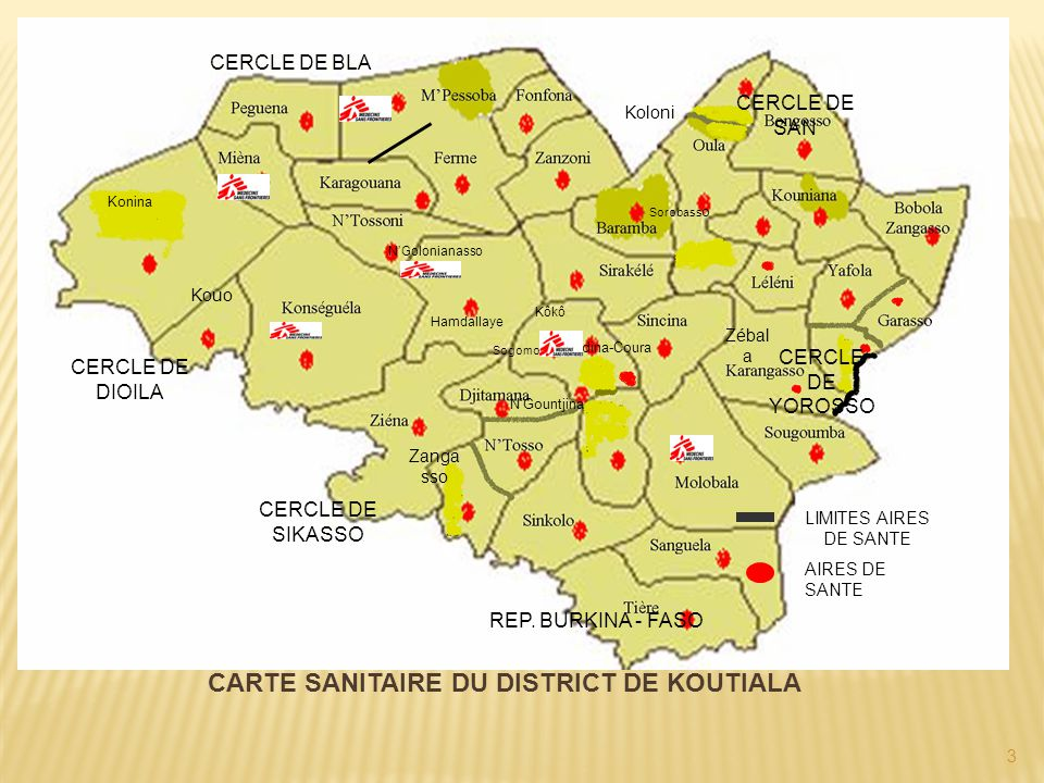 CARTE SANITAIRE DU DISTRICT DE KOUTIALA