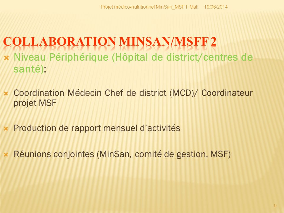 COLLABORATION MINSAN/MSFF 2