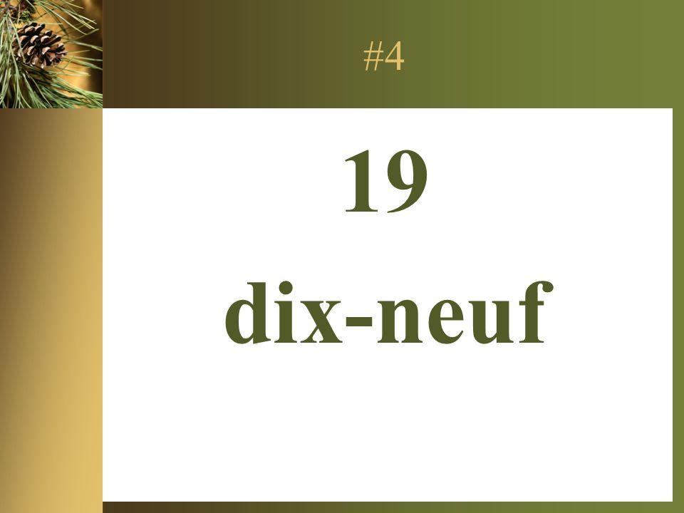 #4 19 dix-neuf