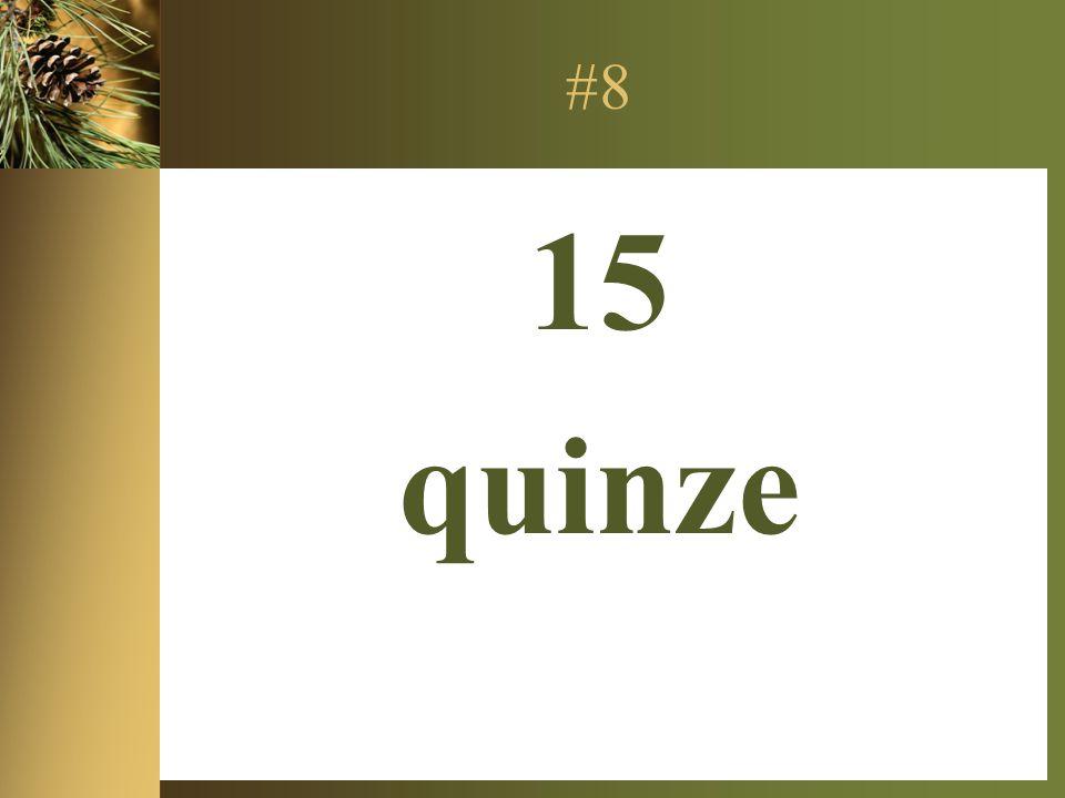 #8 15 quinze