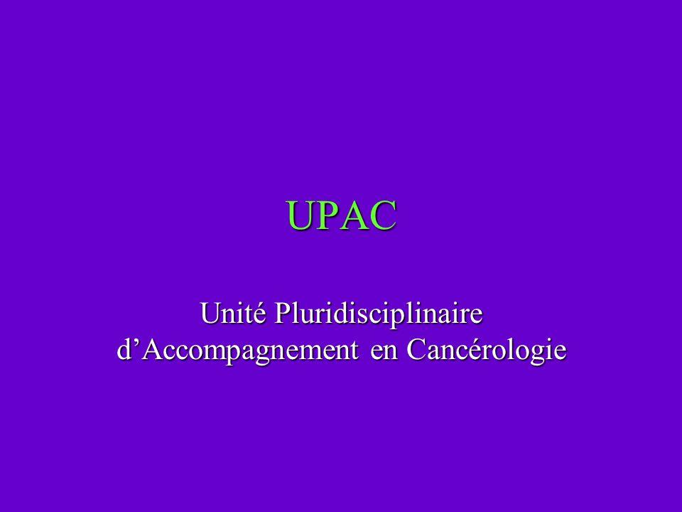 Unité Pluridisciplinaire d'Accompagnement en Cancérologie