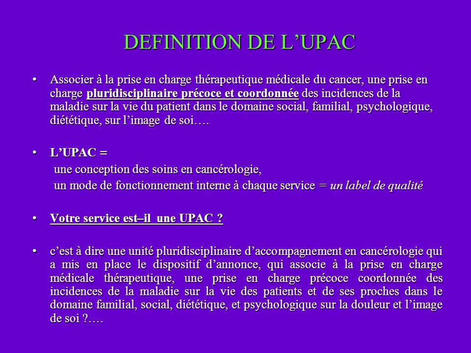 DEFINITION DE L'UPAC