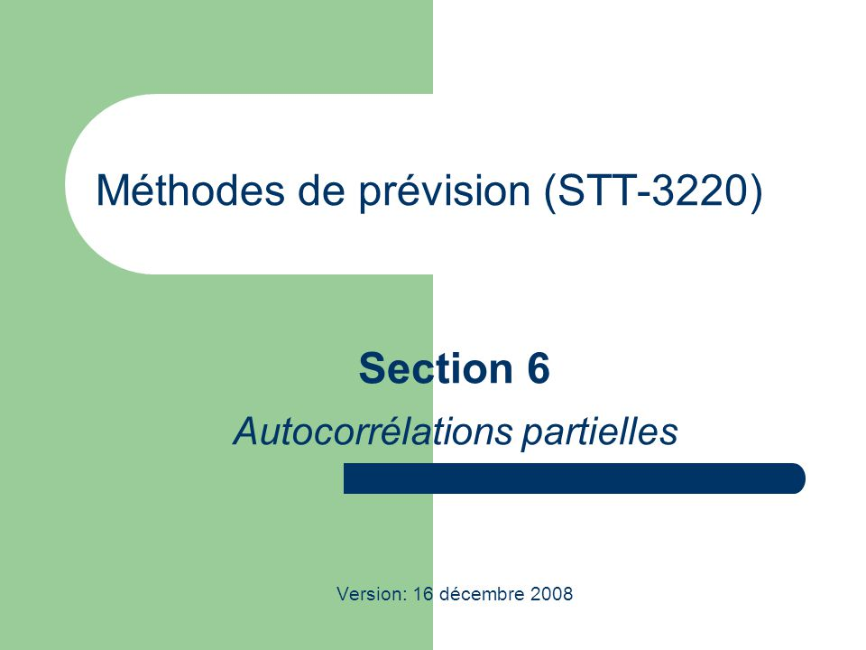 Méthodes de prévision (STT-3220)