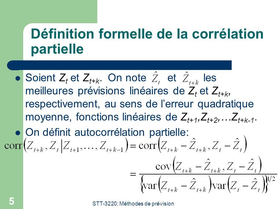 Définition formelle de la corrélation partielle