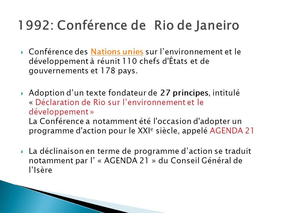 1992: Conférence de Rio de Janeiro