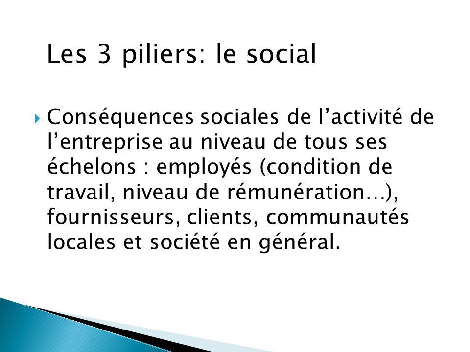 Les 3 piliers: le social