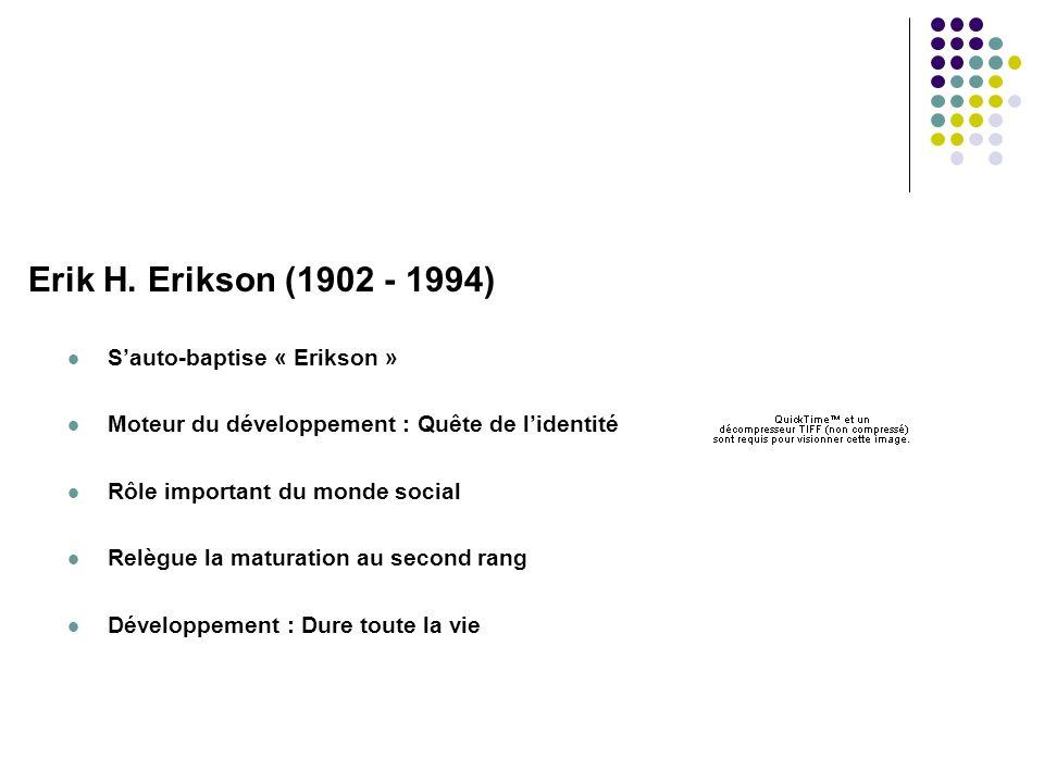 Erik H. Erikson (1902 - 1994) S'auto-baptise « Erikson »