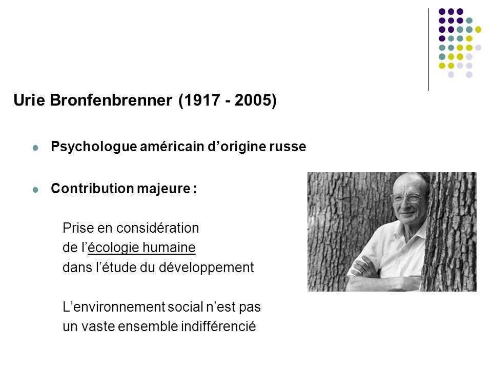 Urie Bronfenbrenner (1917 - 2005)