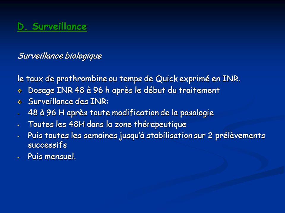 D. Surveillance Surveillance biologique
